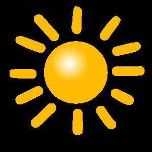 Saule permatoma 2 vidutine